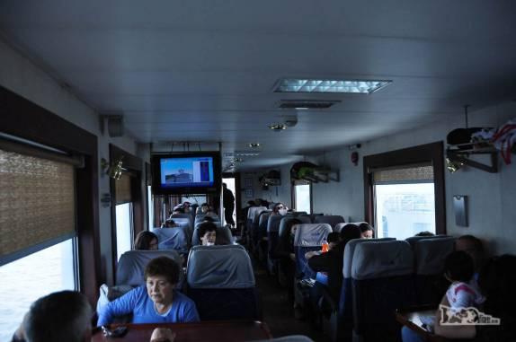 Barco da travessia Punta Arenas - Terra do Fogo, no sul do Chile