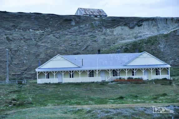 Uma das casas de Cameron, pequeno povoado na Terra do Fogo, no sul do Chile